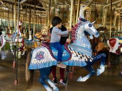 Photo : Manège chevaux de bois San Francisco