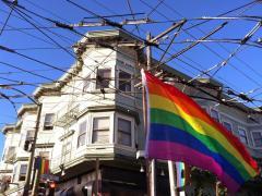 [Photo : Drapeau LGBT à Castro, San Francisco]
