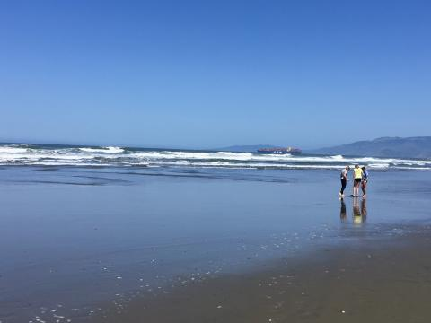 [Photo : Ocean Beach, la plage à San Francisco]
