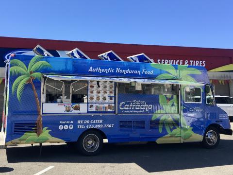 [Photo : food truck ou camion restaurant dans le quartier Mission à San Francisco]