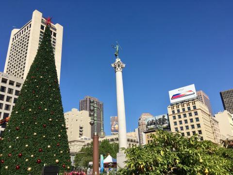 Photo : Union Square le paradis du shopping San Francisco