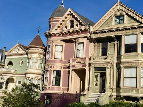 Photo : Maisons victoriennes San Francisco
